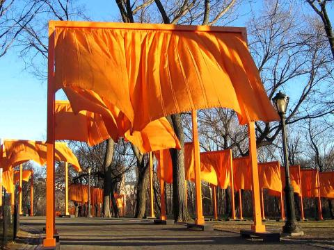 The Gates, Central Park, New York. Installation by Christo and Jeanne-Claude, 2005. Photo from Carol M. Highsmith Archive, Library of Congress
