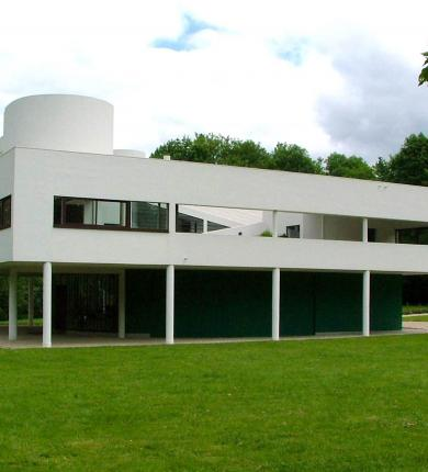 Villa Savoye, Poissy, France, by Le Corbusier, 1928-31