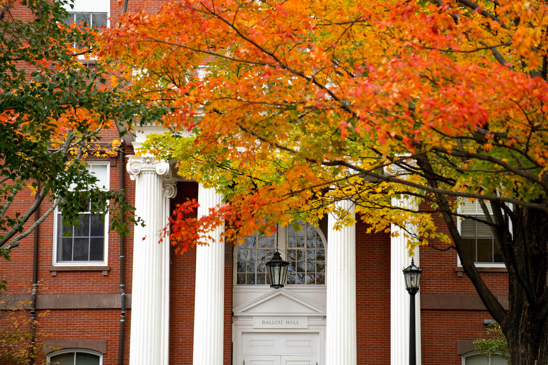 Columns of Ballou in the fall