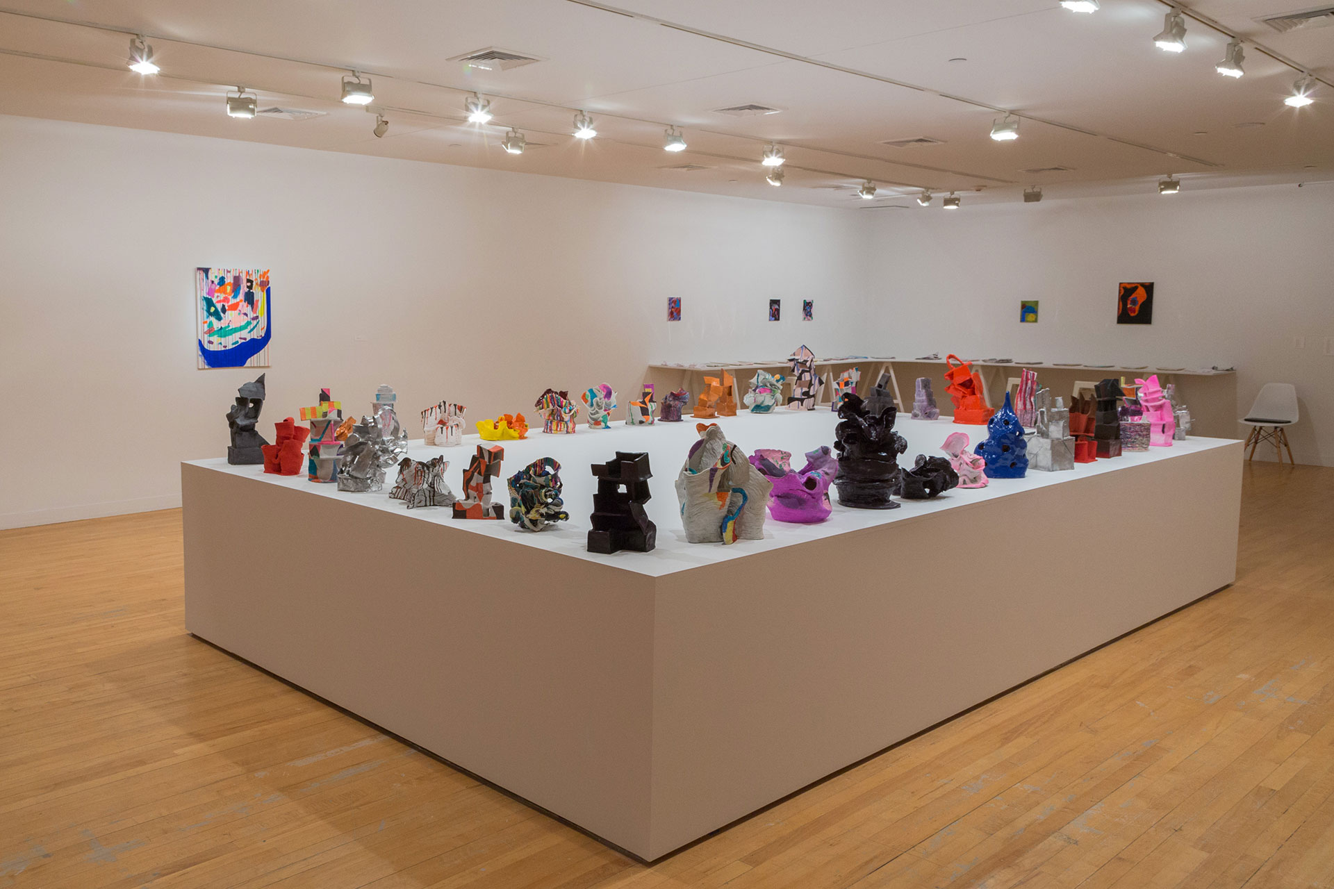 Partial view of Joanne Greenbaum: Things We Said Today installation
