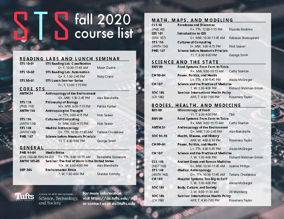 Fall 2020 courses booklet