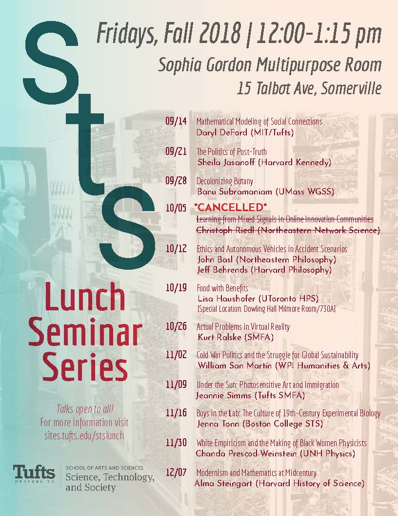 STS Lunch Seminar Series